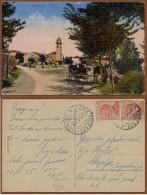 SLOVENIA-ITALY, NABRESINA - AURISIANA, TRIESTE - FIUME RAILWAY TPO PICTURE POSTCARD 1925 RRR!! - Slowenien