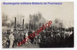 Boulangerie Militaire-PAIN-FOURS Roulants-FELDBÄCKEREI-CARTE PHOTO Allemande-Guerre 14-18-1 WK-Militaria- - Oorlog 1914-18