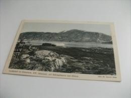 GROENLANDIA GRONLAND LANDSCHAFT BEI RITENBENK NW. GRONLAND MIT ESKIMOFRAUEN UND HUTTEN - Groenlandia