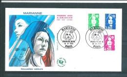 Envelloppes Premier Jour Avec  N°3005 A 3007  Marianne    18/03/1996 - Unclassified