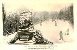 Belle Cpa  - Asniéres - Cimetiére De Chiens   Vue De L ´entrée Des Jardins  (l ´hiver)   D803 - Chiens