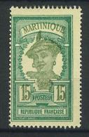VEND BEAU TIMBRE DE MARTINIQUE N° 95 , CENTRE ET VALEUR DEPLACES , NEUF !!!! - Unused Stamps