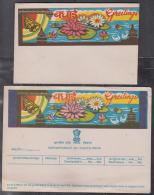 India  Greetings Telegram Form With Envelope  Telegrapho  Telegramme  Tears AT BOTTOM    #  84889  Inde Indien India - Enveloppes