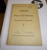 Normandie : L'EGLISE DE LA PAROISSE SAINT-SAUVEUR (anciennement NOTRE-DAME-DE-FROIDE-RUE) 1919 A. ADAM / Calvados, Caen. - Normandië