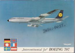 Boeing B.707  Aerei Lufthansa Intercontinental Jet Air B 707 Avion Aviation B-707 Aiplane Planes Flugzeuge B-707 - 1946-....: Moderne