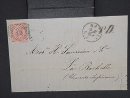 ITALIE-Lettre ( Sans Texte) De Naples Pour La Rochelle En 1871  à Voir P6715 - Non Classés