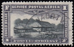 CONGO BELGIAN - Scott # C2 Congo Country Store (*) / Used Stamp - Luftpost: Gebraucht