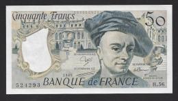 50 Francs  Quentin De La Tour  1989 - 1962-1997 ''Francs''