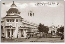 GENT 1913 Exposition Universelle Petit Train Kleine Trein Section Anglaise & Avenue Des Nations Anime - Gent