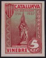 VINEBRE - RAFEL DE CASANOVA - EDIFIL Nº 72 - MUY RARO - Vignette Della Guerra Civile