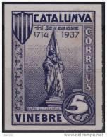 VINEBRE - RAFEL DE CASANOVA - EDIFIL Nº 63 SIN DENTAR - MUY RARO - Vignette Della Guerra Civile