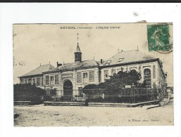 CPA  08 Rethel Hopital Général Photo Wilmet Circulé 1923 2scan  Timbres Taxe Au Dos - Rethel