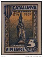 VINEBRE - RAFEL DE CASANOVA - EDIFIL Nº 64 SIN DENTAR - MUY RARO - Vignette Della Guerra Civile