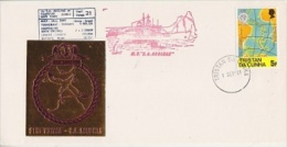 Tristan Da Cunha 1981 M.V. Agulhas 21st Voyage Cover Ca Tristan Da Cunha 1 Sep ´91 (F3885) - Tristan Da Cunha