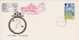 Tristan Da Cunha 1981 M.V. Agulhas 21st Voyage Cover Ca Tristan Da Cunha 1 Sep ´91 (F3886) - Tristan Da Cunha