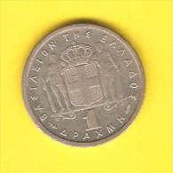 GREECE   1 DRACHMA  1957  (KM # 81) - Greece