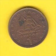 GREECE   1 DRACHMA  1978  (KM # 116) - Greece