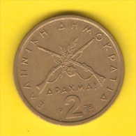 GREECE   2 DRACHMAI  1978  (KM # 117) - Greece