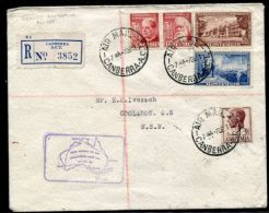 AUSTRALIA COMMONWEALTH 1951 ROUND AUSTRALIA FLIGHT 10 POSTMARKS! - Postmark Collection