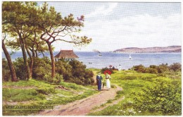 West Cliff, Bournemouth (Looking Towards Swanage) By A R Quinton Colour Postcard - Salmon No 1188 (no Leaping Salmon) - Quinton, AR