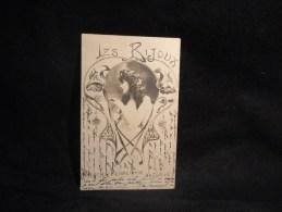 """Art Nouveau """" Les Bijoux """" Le Pendentif. Carte Photo . Avant 1903. Voir 2 Scans. - Unclassified"""