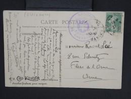 FRANCE-Carte De Partie De Cherbourg Pour Flers En 1922  Cachet En Violet Du Groupe IDO En Esperanto  à Voir P6742 - Esperanto