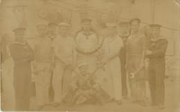 BELLE CARTE PHOTO DU S.M.S HELGOLAND - MATELOTS - MARINS - CANON - MECANICIEN - Krieg