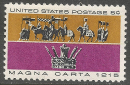 USA. 1965 750th Anniv Of Magna Carta.  5c MNH. SG 1247 - United States