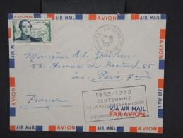 NOUVELLE CALEDONIE- Enveloppe De Nouméa Pour Paris Avec Cachet Du Centenaire De La Présence Franç. En 1953 à Voir P6757 - Nueva Caledonia