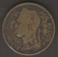 CONGO BELGA 50 CENTS 1926 - 1910-1934: Alberto I