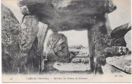 DOLMEN - Intérieur Du Dolmen De Kérioned - CARNAC - Dolmen & Menhirs