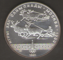 RUSSIA 10 ROUBLES 1980 AG SILVER - Russia