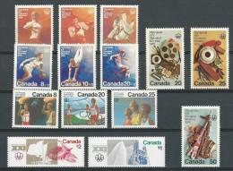 Canada: 576/ 578 + 591/ 596 + 598/ 599 + 604/ 606 **  Montréal 76 - Ete 1976: Montréal