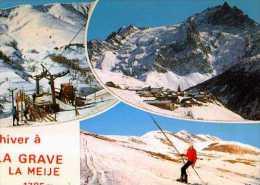 05 L´hiver A LA GRAVE La Meige, Skieur - France