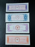 CHINA CHINESE RATION COUPONS FOOD COUPONS FOR FAMILIES .. 4 DIFFERENT 0.5, 1, 5, 250 - Cina