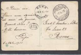 6909-POSTA MILITARE-UFF. INTEND. GENERALE-1915 - Marcophilie