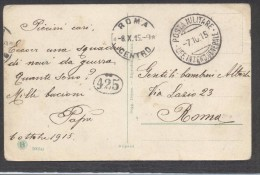 6909-POSTA MILITARE-UFF. INTEND. GENERALE-1915 - 1900-44 Victor Emmanuel III