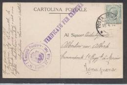 6916-POSTA MILITARE-95-LEGA ITALO-BRITANNICA-GENERALE CADORNA-1918 - Marcophilia