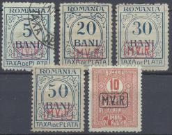 ROMANIA GERMANY OCCUPATION 9º ARMY 1918 TAXE Nº 1/6 - Besetzungen