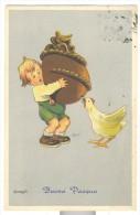 Buona Pasqua Firmata Bonfanti Viaggiata F. Piccolo - Easter