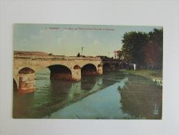 Cpa/pk 1936 Pompey Le Pont De Pierre Entre Frouard Et Pompey - Frouard