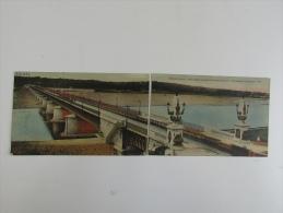 Cpa/pk Briare Pont -Canal  Carte Panorama Double Coupé En 2 - Briare