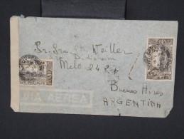 GRANDE-BRETAGNE-SIERRA LEONE-Enveloppe Pour L 'argentine Via Le Natal En 1945 Avec Censure à Voir P6787 - Sierra Leone (...-1960)