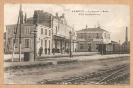 LAROCHE -- La Gare Et Le Buffet - Coté Laroche-Nevers - Voyagée 1907 - GARE - TRAIN - Laroche Saint Cydroine