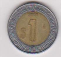 Mexiko 1 Peso 2005 C/Al-N-Bro Staatswappen,Rs.Wertangabe Schön Nr.177 - Mexiko