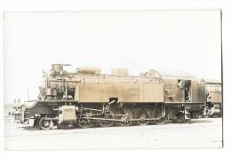 PARIS (75) Carte Photo Locomotive Du Chemin De Fer De Ceinture Gros Plan - Transport Urbain En Surface