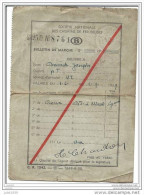 BRAINE - L ´ ALLEUD ..-- SNCB ..-- Bulletin De Marche . DAVID Joseph . 1939 . ROUX à BRAINE - L´ALLEUD . - Braine-l'Alleud