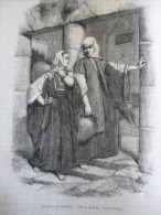 Les Femmes De Bethléem , Gravure D´aprés Dessin De Bida 1860 Avec Texte / 2 Pages - Estampes & Gravures