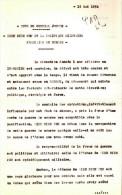 DOC #10 NOTE GENERAL JOUSSE DIEN BIEN PHU ET POLITIQUE MILITAIRE FRANCAISE EN EUROPE 1954 - Documents Historiques