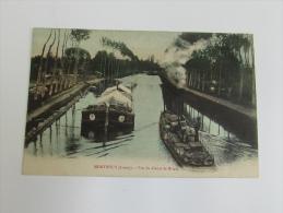 Cpa/pk Mountbouy Vue Du Canal De Briare Péniche - Briare